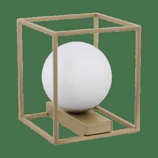 Επιτραπέζιο Φωτιστικό 1x 40W σε Σαμπανιζέ & Λευκό Γυαλί Eglo VALLASPRA Eglo