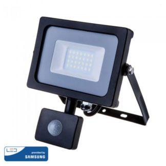 Προβολέας LED Samsung chip 20W Λευκό 6400K Μαύρο σώμα με ανιχνευτή V-TAC 453