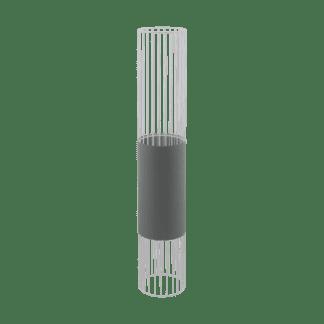 Φωτιστικό Δαπέδου Mονόφωτο 1x60W Σε Γκρί & Λευκό Χρώμα Eglo Norumbega 97957