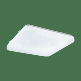 Φωτιστικό Οροφής - Τοίχου σε Λευκό χρώμα/Κρύσταλλο Τετράγωνο 28x28cm ισχύος 11,5W Eglo FRANIA-S 97881