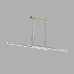 Φωτιστικό κρεμαστό Led δίφωτο 2x 17W σε νίκελ Eglo Fraioli-C 97907