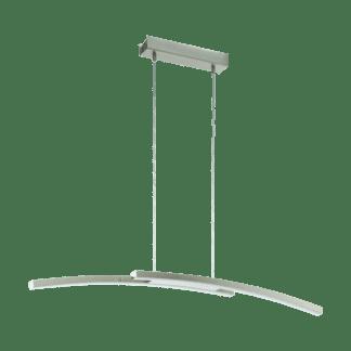 Φωτιστικό κρεμαστό Led δίφωτο 2x 17W σε νίκελ Eglo Fraioli-C 97911