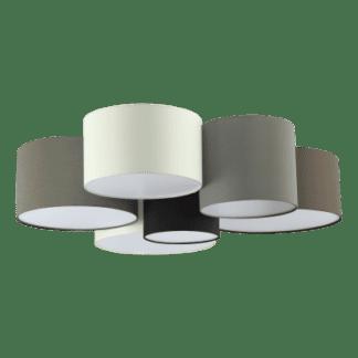 Φωτιστικό οροφής Εξάφωτο 6x 40W σε ανθρακί καφέ &γκρι χρώμα Eglo Pastore 97838