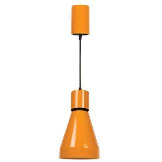 Φωτιστικό κρεμαστό μεταλλικό μονόφωτο LED 18W 4000K φυσικό λευκό φως από αλουμίνιο σε χρώμα πορτοκαλί VK 64173-038118