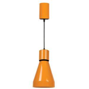 Φωτιστικό LED κρεμαστό μεταλλικό μονόφωτο 18W 3000k θερμό λευκό φως 1350lm από αλουμίνιο σε χρώμα πορτοκαλί 64173-037118