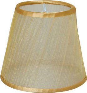 Καπέλο φωτιστικού υφασμάτινο Φ110mm σε χρυσό χρώμα VK 60080-061669