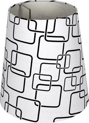 Καπέλο φωτιστικού υφασμάτινο Φ145mm με αφηρημένο σχέδιο σε λευκό & μαύρο VK 60080-061987