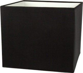 Καπέλο φωτιστικού υφασμάτινο Φ35cm τετράγωνο μονόχρωμο σε μαύρο VK 60080-138987