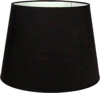 Καπέλο φωτιστικού υφασμάτινο στρογγυλό Φ30cm μονόχρωμο σε μαύρο VK 60080-130987