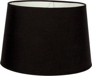Καπέλο φωτιστικού υφασμάτινο στρογγυλό μονόχρωμο σε μαύρο VK 60080-128987