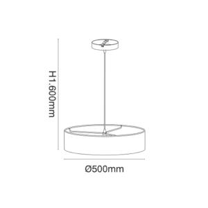 Κρεμαστό Φωτιστικό ισχύος από ύφασμα & μέταλλο ισχύος 3x42W VK 71164-005108