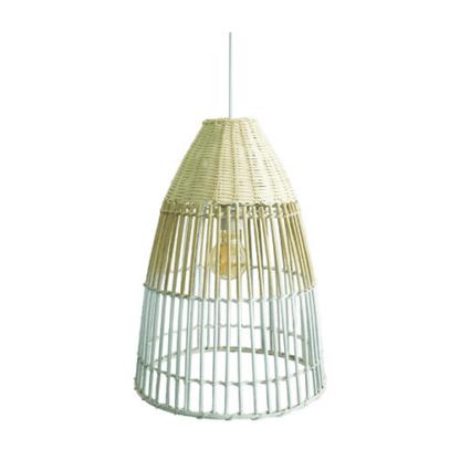 Κρεμαστό Φωτιστικό οροφής Φ30 από μπαμπού σε λευκό χρώμα & ξύλο VK 75169-234115