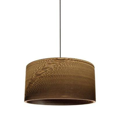 Κρεμαστό Φωτιστικό 11W Φ50cm Χάρτινο σε καφέ χρώμα με υφασμάτινο καλώδιο VK 64174-022108