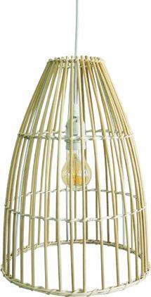 Κρεμαστό Φωτιστικό 60W Φ30cm από Bamboo σε λευκό-wood χρώμα 75169-236115