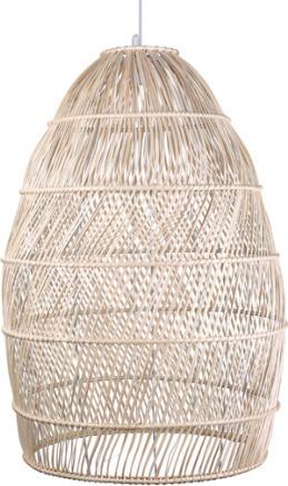 Κρεμαστό Φωτιστικό 60W Φ70cm από Bamboo με υφασμάτινο λευκό καλώδιο VK 75169-233115