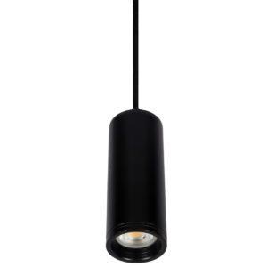 Κρεμαστό φωτιστικό Μονόφωτο Φ60 μεταλλικό κυλινδρικό με πλαίσιο από αλουμίνιο σε μαύρο χρώμα VK 64174-310269