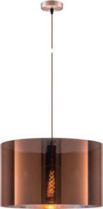 Κρεμαστό φωτιστικό οροφής Φ50 x 30cm ισχύος 10W μεταλλικό & PVC σε χάλκινο χρώμα VK 75169-016733
