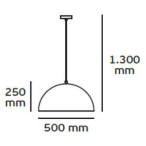 Κρεμαστό φωτιστικό οροφής Φ50cm Μεταλλικό σε μαύρο & χρυσό χρώμα VK 71164-005724