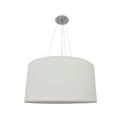 Φωτιστικό κρεμαστό 3xE27 από ύφασμα & μέταλλο σε λευκό χρώμα VK 71164-006108