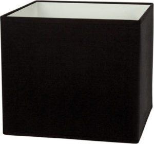 Καπέλο φωτιστικού υφασμάτινο Φ17cm τετράγωνο μονόχρωμο σε μαύρο VK 60080-134987
