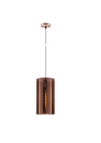 Κρεμαστό φωτιστικό οροφής Φ25cm ισχύος 10W μεταλλικό & PVC σε χάλκινο χρώμα VK 75169-014733