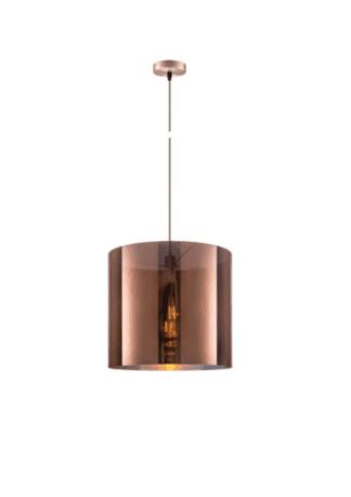 Κρεμαστό φωτιστικό οροφής Φ50 x 45cm ισχύος 10W μεταλλικό & PVC σε χάλκινο χρώμα VK 75169-017733