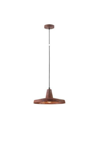 Κρεμαστό φωτιστικό μεταλλικό Φ30 σε καφέ χρώμα VK 75169-018733