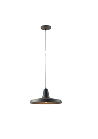 Κρεμαστό φωτιστικό μεταλλικό Φ30 σε Σκούρο γκρί χρώμα VK 75169-019733