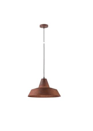 Κρεμαστό φωτιστικό μεταλλικό Φ30 x 18,5cm σε καφέ χρώμα VK 75169-020733