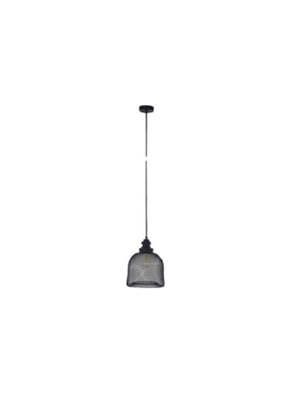 Κρεμαστό φωτιστικό μεταλλικό ισχύος 40W Φ24,5cm σε μαύρο χρώμα VK 75169-485730