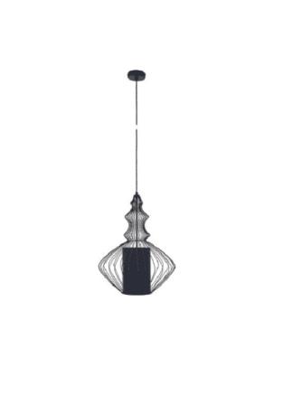 Κρεμαστό φωτιστικό μεταλλικό ισχύος 25W Φ40 σε μαύρο χρώμα VK 75169-488730
