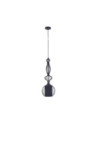 Κρεμαστό φωτιστικό μεταλλικό ισχύος 25W Φ23 σε μαύρο χρώμα VK 75169-489730