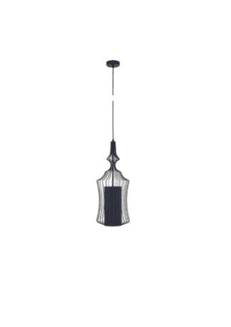 Κρεμαστό φωτιστικό μεταλλικό ισχύος 25W Φ24 σε μαύρο χρώμα VK 75169-490730