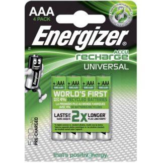 Επαναφορτιζόμενη μπαταρία ENERGIZER AAA-HR03/500MAH/4TEM UNIVERSAL FO16555