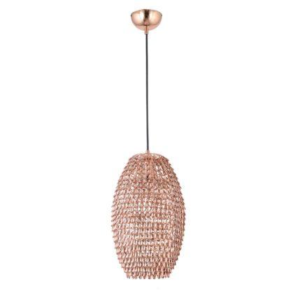 Κρεμαστό φωτιστικό Drops μεταλλικό χάλκινο χρώμα με Διαμ.24cm MEC-3480-1UBXALKO