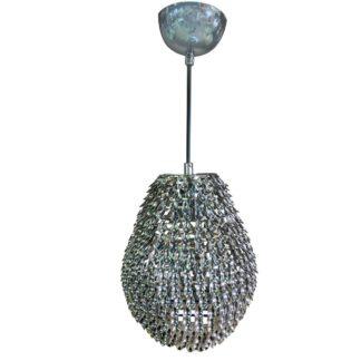 Κρεμαστό φωτιστικό Leaves με Μεταλλικό Χρώμιο Διαμ.18cm MEC-3480-2YCHROMIO