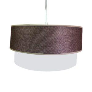 Κρεμαστό φωτιστικό υφασμάτινο σε καφέ χρώμα με καλώδιο Φ400mm MEC-M1BROWN