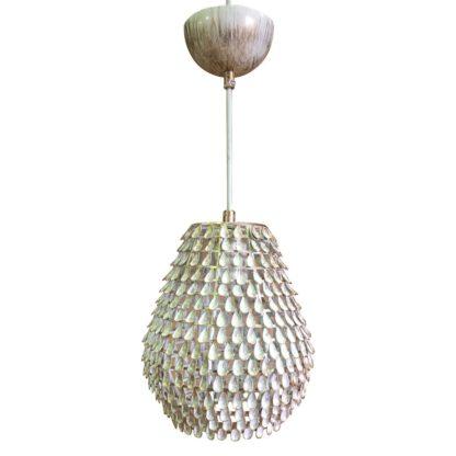 Κρεμαστό φωτιστικό με μεταλλική λευκή πατίνα με Διαμ.24cm MEC-3480-1YBPWHITE