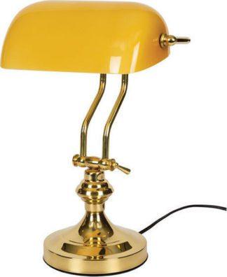 Φωτιστικό γραφείου Vintage μεταλλικό με κίτρινο γυάλινο κάλυμμα ισχύος 42W με διακόπτη on/off VK 58610-039647