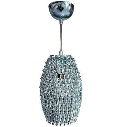Κρεμαστό φωτιστικό Drops Μεταλλικό Χρώμιο με Διαμ.18cm MEC-3480-2UCHROMIO