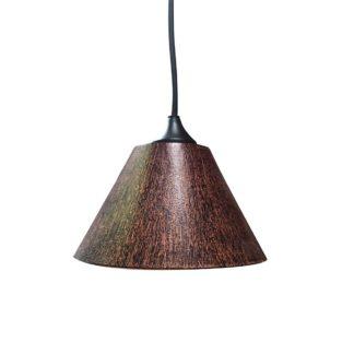 Κρεμαστό φωτιστικό με γυαλί καί καλώδιο σε καφέ χρώμα με διάμ.17cm TA-17717L