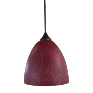 Κρεμαστό φωτιστικό με γυαλί καί καλώδιο σε κόκκινο σκούρο χρώμα με διάμ.17cm TA-186917RS
