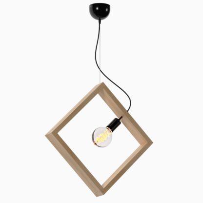 Κρεμαστό φωτιστικό ξύλινο τετράγωνο σε χρώμα Sonoma TOP-919-1