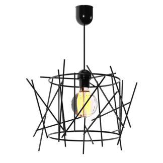 Κρεμαστό φωτιστικό στρόγγυλο με μεταλλικές μαύρες βέργες TOP-922-1