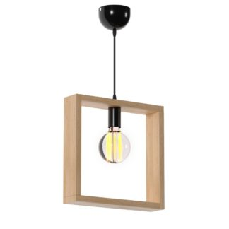 Κρεμστό φωτιστικό τετράγωνο από ξύλο σε χρώμα Sonoma TOP-920-1