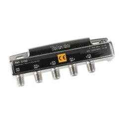 Τeleves μεταλλικός διακλαδωτής splitter 4 ways 5152