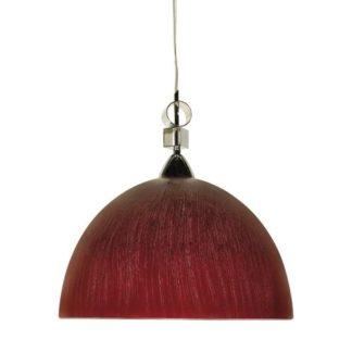 Κρεμαστό φωτιστικό με γυαλί σε σκούρο κόκκινο χρώμα , με διαμ. 36cm TA-186936RS