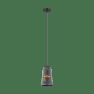 Κρεμαστό φωτιστικό Μονόφωτο 1xE27 σε χρώμα μαύρο & χρυσό EGLO Honeybourne 43107