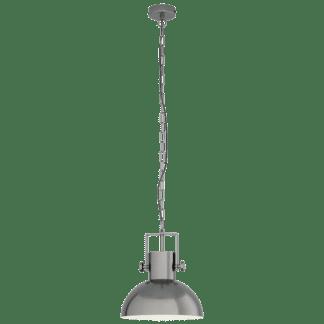 Κρεμαστό φωτιστικό Μονόφωτο 1xE27 σε χρώμα νίκελ ματ/κρεμ EGLO Lubenham 1 43167
