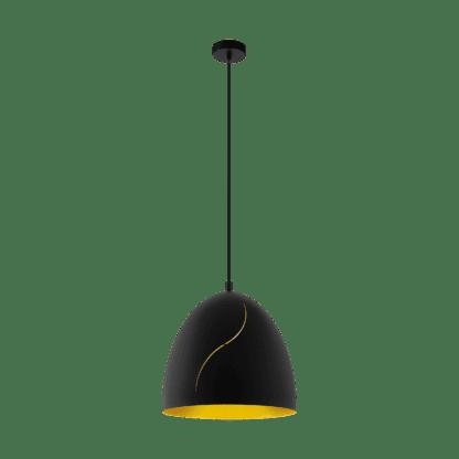 Κρεμαστό φωτιστικό Φ405 E27 σε μαύρο & χρυσό χρώμα Hunningham EGLO 43067
